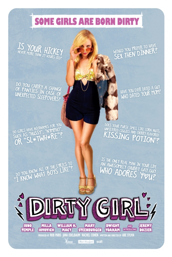 Dirty Girl Poster - Blue Version